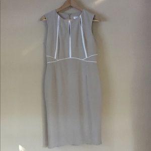 Calvin Klein sleeveless dress beige size 8 classic